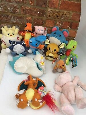12 Original Nintendo Pokémon Plush With Original Tags - Job Lot Bundle