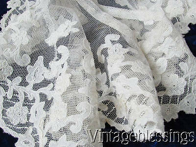 Antique Applique French Net Lace Collar