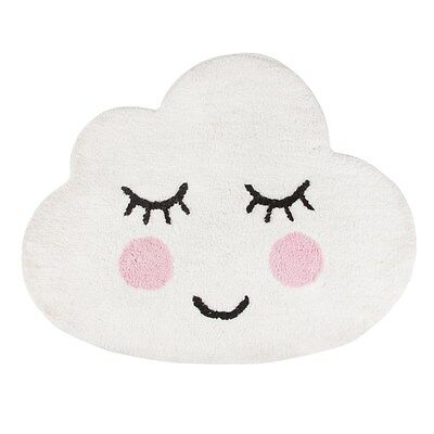 Cloud Rug Mat Bath Chic White Nursery Childrens Bedroom Kids Playroom Bathroom