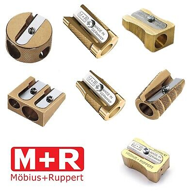 Solid Brass Pencil Sharpener Single Double Hole Wedge/Barrel/Circular Heavy Duty