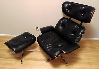Vintage Selig Plycraft Eames Lounge Chair Ottoman - Mid Century Modern