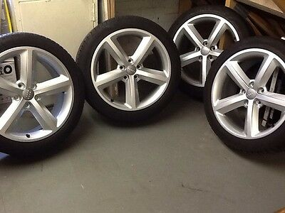 "Audi A4 S-Line Original Set Of Alloy Wheels 18"" With Uniroyal Rainsport 3 Tyres"