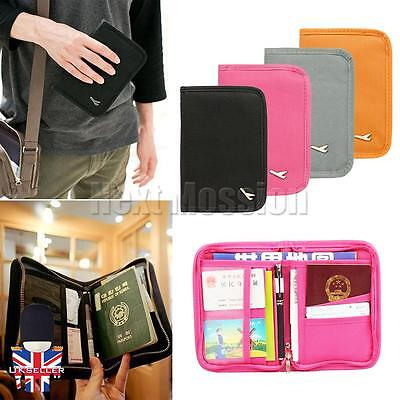 Travel Bag Passport ID Document Holder Wallet Purse Cover Tickets Organiser UK