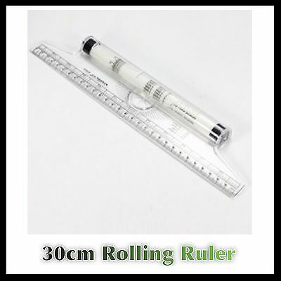 Roll n Draw Ruler Rolling Ruler Rule Parallel Lines Glider Technical Ruler 30cm