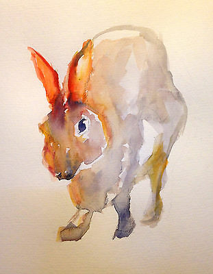 Original Watercolour Painting of a Hare A4