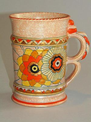 Art Deco Crown Ducal Charlotte Rhead Hand Painted Tube Lined Vase