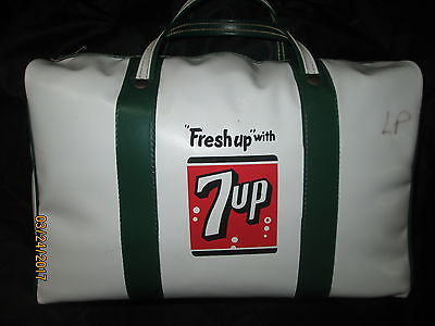 Very Rare Antique Vintage 7 Up Soda Promotional Advertising Sign Cooler Bag