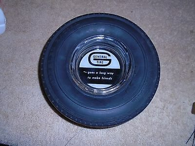 VINTAGE GENERAL RUBBER TIRE ASHTRAY GLASS INSERT Goes A Long Way to Make Friends