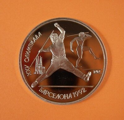 1991 Russia 1 Roubles Coin - Olympics Javelin  - Proof