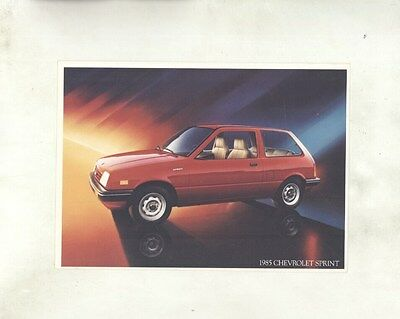 1985 Chevrolet Sprint Large ORIGINAL Factory Postcard my8384