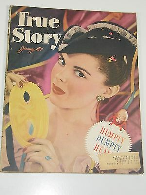 True Story Magazine January 1947 Very Good Condition-Excellent-Free Shipping!
