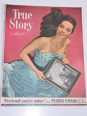 True Story Magazine March 1948 Very Good Condition-Excellent-Free Shipping!