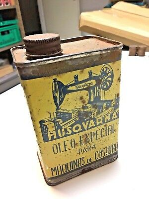 Antique Vintage Can Tin Husqvarna Oil Special for sewing machines