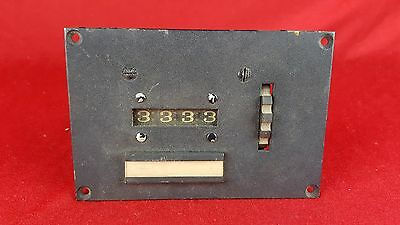 Vintage Production Instrument Co Electric Counter PEC-84 4 Digit 1940's AS IS
