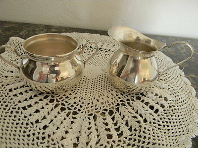 Vintage Petite Sterling Creamer/Sugar Bowl BY: Industria Peruana 110+ Grams