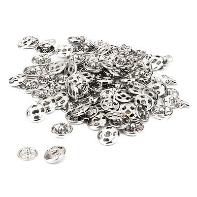 Sew on Snaps Fasteners Button Poppers 10mm Pack of Approx. 50 Sets Silver L6X3