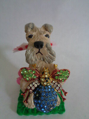 Hand Sculpted****wheaten Terrier With A Rhinestone Butterfly****ooak