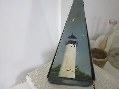 House bell Painted Rock Island lighthouse. Cottagy