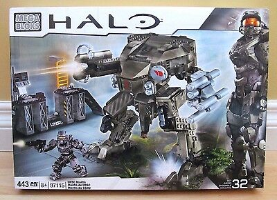 Halo Mega Bloks 97115 UNSC Mantis NEW & FACTORY SEALED 443 Pcs