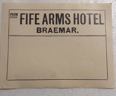 Early 1900s Fife Arms Hotel Braemar Luggage Label