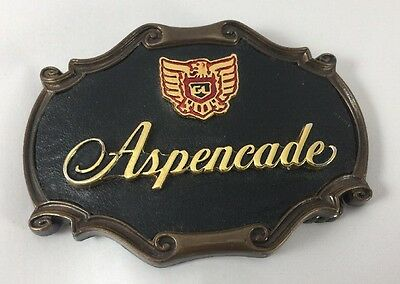 VTG Aspencade Brass Belt Buckle Honda Gull Wing Motorcycle 1978