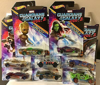 Hot Wheels Marvel Guardians of the Galaxy Vol. 2 - Complete Set of 8- NIP
