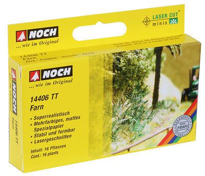 Noch 14406 L-C Fern TT GAUGE (Laser-Cut minis Kit) # NEW ORIGINAL PACKAGING #