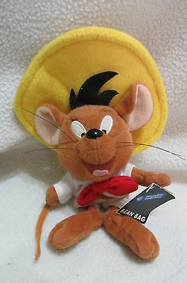 Warner Bros. Speedy Gonzales bean bag plush 1998 ~ with Tags