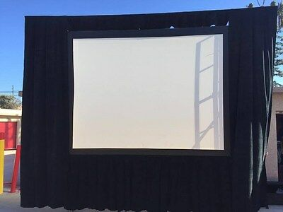 Da-Lite 7.5x10'  Fast-Fold Deluxe Projection Front & Rear Screen with drapery