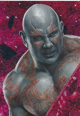 #152 DRAX DAVE BAUTISTA 2017 Panini Marvel Heroes GUARDIANS of the GALAXY PRISM