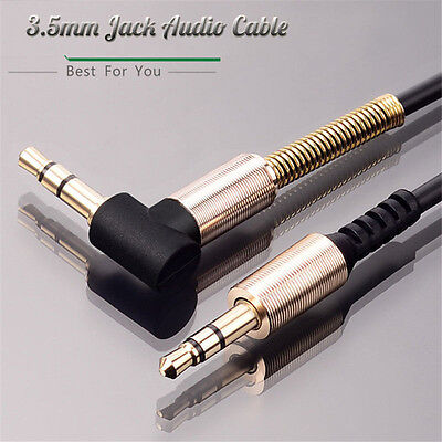 3.5mm Jack Cord Stereo Audio Cable Male To Male 90 Degree Right Angle Aux Cable