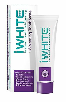 iWhite Instant Teeth Whitening Toothpaste 75 Millilitres Prevents Tooth Staining