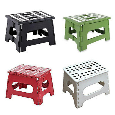 1Pc Folding Foot Stool Step Ladder Children Kids Plastic Footstool Stepladder