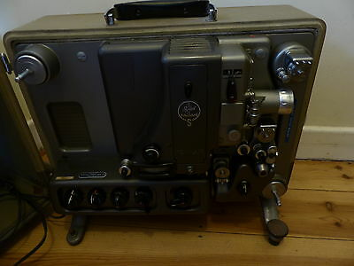 bolex s-221 16mm projector PLEASE NOTE TESTED MOTOR WORKS + BULB WORKS + REEL