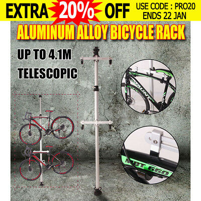 Gravity 1 or 2 Bicycle Bike Hanger Parking Rack Storage 1.7- 4.1m Aluminum Alloy