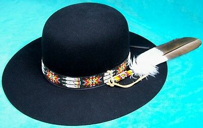 """jimi Hendrix, Billy Jack, Indian Joe"" Hat + Hatband + Feather Choice"