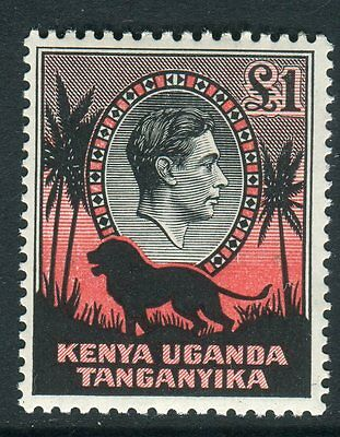 K.U.T-1938 £1 Black & Red Perf 13¾x13.  A lightly mounted mint example Sg 150