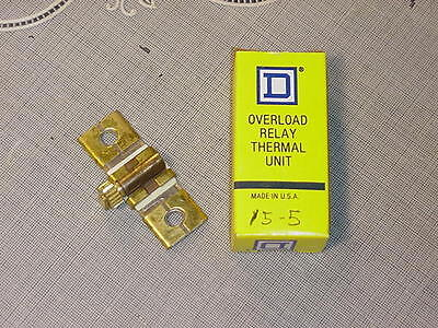 Square D Overload Relay Thermal Unit B15.5 NEW IN BOX!