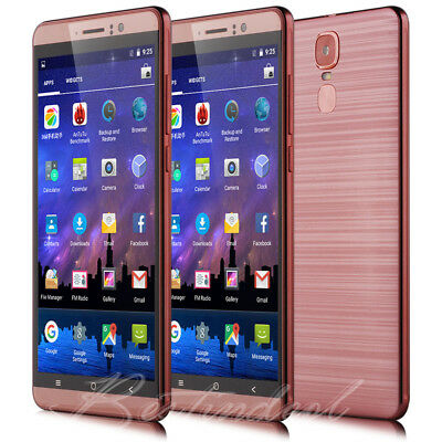 """6.0"""" Touch Dual Sim 4Core Android Mobile WIFI 3G Smartphone Unlocked Cell Phone"""