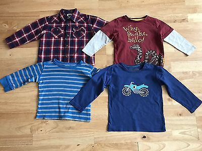 bundle baby boys long sleeved tops shirt age 18-24 months