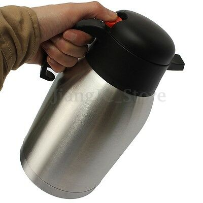 2L Thermos Stainless Steel Thermal Pot Vacuum Insulated Hot Tea Coffee Bottle