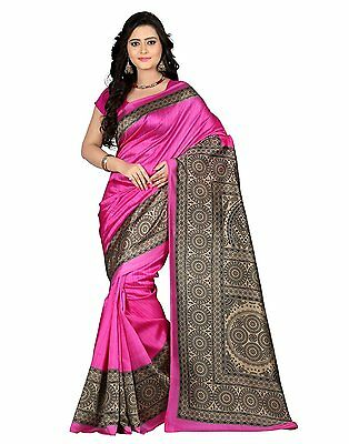 Bollywood Saree Party Wear Indian Ethnic Pakistani Designer Sari Wedding - Pink