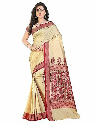 Bollywood Saree Party Wear Indian Ethnic Pakistani Designer Sari Wedding - Beige