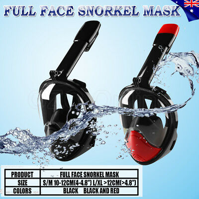 Full Face Snorkeling Snorkel Mask Diving Goggles With 180° Vision For GoPro AU
