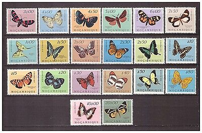 s16075) MOZAMBIQUE MNH** 1953 Butterflies 20v complete set pristine conditions