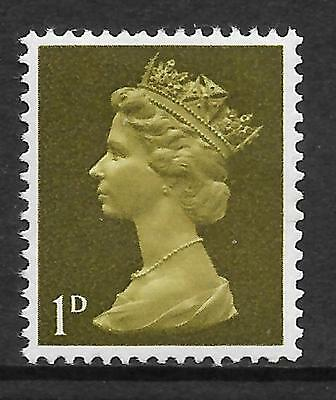 Sg 724Ev 1d Pre-decimal Machin PVA missing phosphor - UNMOUNTED MINT/MNH