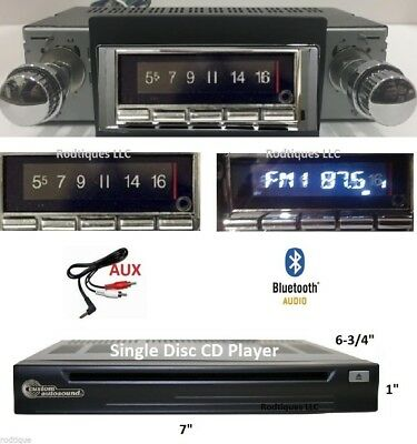 1966-67 Chevelle El Camino Malibu Bluetooth Stereo Radio + CD Player 740