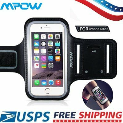 "MPOW Sports Running Jogging Gym Armband Arm Band Case Cover Holder For 4.7"" US"