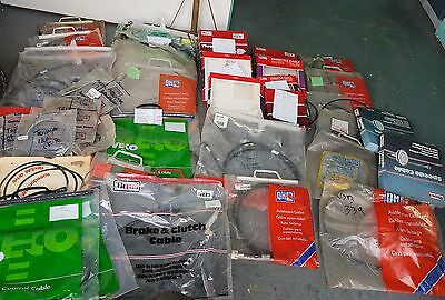 Joblot of 36x speedo/ throttle/brake and clutch cables.