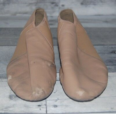 Slip On Jazz Shoes Tan Fits Size 6.5/7 Split Sole